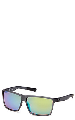 Costa Rincon Green Mirror Matte Smoke Sunglasses