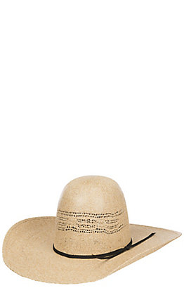 Rodeo King 25X Thunder Ivory Vented Open Crown Bangora Straw Cowboy Hat
