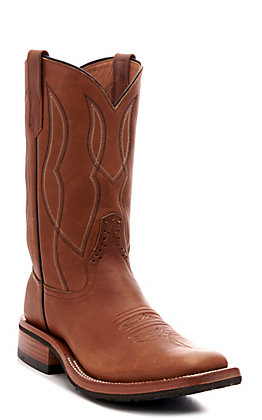 Rios of Mercedes Men's Blackhawk Chestnut Steerhide Square Toe Western Boot