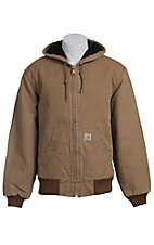 Carhartt Brown Quilted Flannel Lined Active Jacket