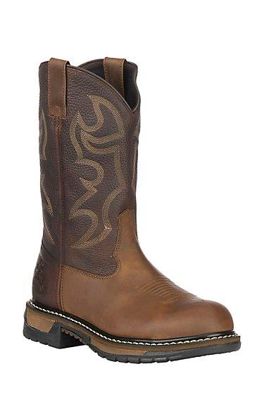 Rocky Boots Mens Branson Steel Toe Western Workboots - Aztec ...