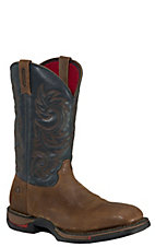 Rocky Long Range Men's Trail Brown & Navy Blue Square Toe Work Boots