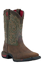 Rocky Long Range Youth Tan w/ Green Top Square Toe Work Boots