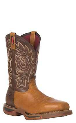 Rocky Long Range Men's Saddle Brown and Tobacco Square Carbon Fiber Toe Work Boots