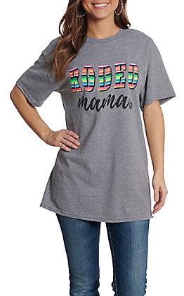 7a9999dbfad9e Girlie Girl Originals Women s Graphite Rodeo Mama Short Sleeve T-Shirt