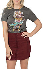 XOXO Art & Co. Women's Asphalt Rodeo Roundup T-Shirt