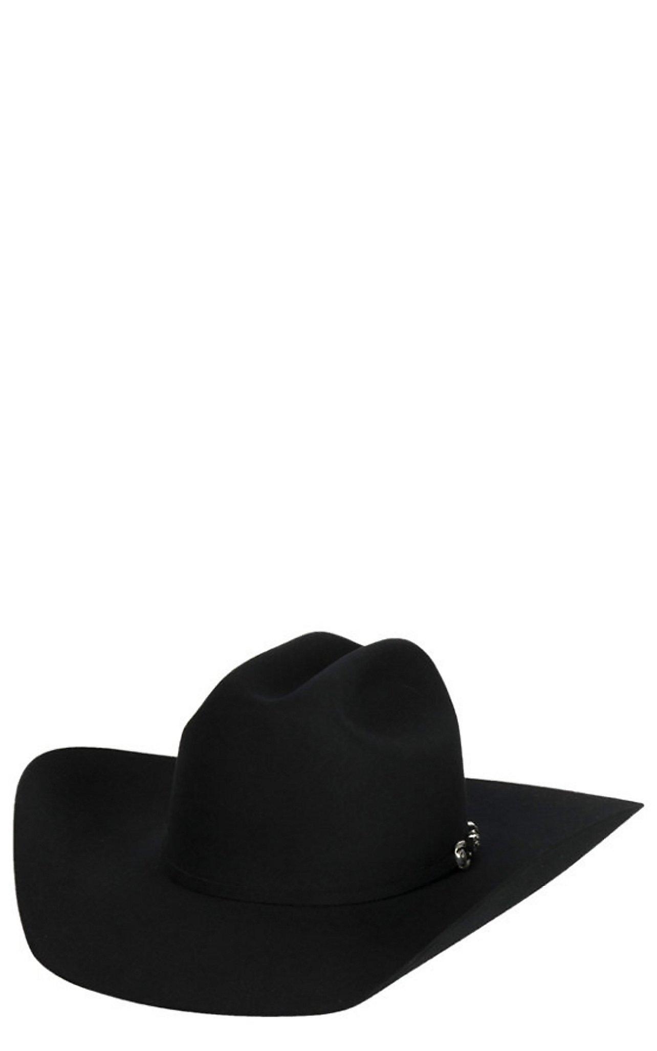 Resistol 6X George Strait Collection Ox Bow Black Felt Cowboy Hat 33b922e160a