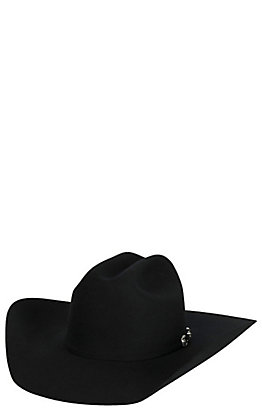 Resistol 6X George Strait Collection Ox Bow Black Felt Cowboy Hat