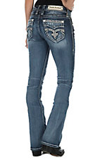 Rock Revival Pilkin Women's Medium Wash Open Pocket Boot Cut Jeans
