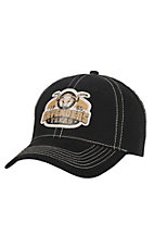 Cavender's Black with Gold Logo Velcro Back Cap