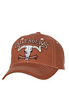 Cavender's Dark Carmel with Tan Accents Velcro Back Cap