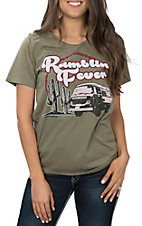 Women's Olive Rambling Fever Short Sleeve T-Shirt