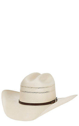 9ba6cbd6 Resistol 10X George Strait Collection Range Cattleman Crown Straw Hat