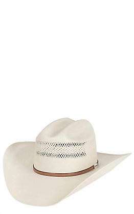 Resistol 10X George Strait Collection Ivory Cattleman Crown Straw Hat
