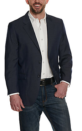 Red Sky Men's Navy with Yokes and Two Metal Buttons Sport Coat
