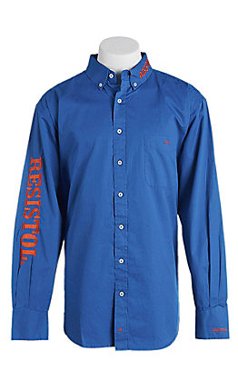 Resistol Men's Logo Long Sleeve Western Snap Shirt