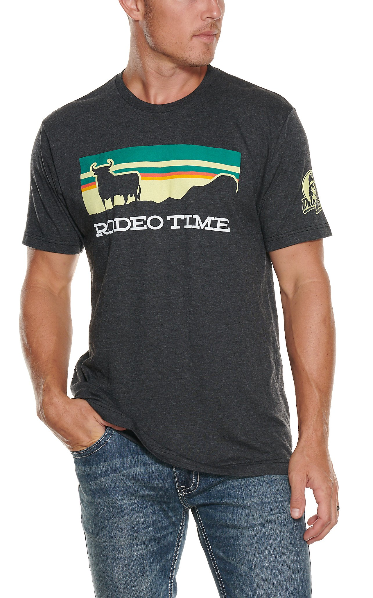 ... Rodeo Time Dale Brisby Men s Rodeo Time Bull Patch T-Shirt 062e331fc31c