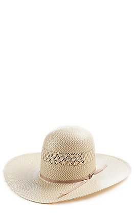 Resistol 20X Natural/Tan Twin V Long Oval Straw Hat