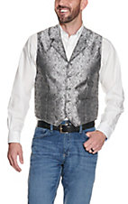 Scully Grey on Black Paisley Vest