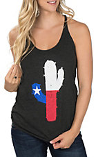 Too Floozy Women's Texas Cactus Tank Top