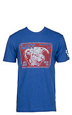 Lazy J Ranchwear Blue w/ Red and White Elevation Graphic T-Shirt