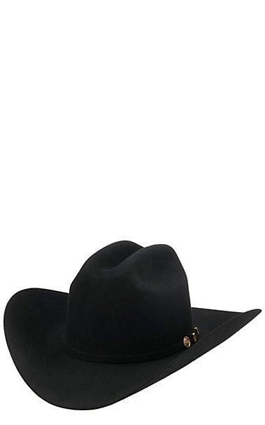 Stetson 100X El Presidente Black Felt Cowboy Hat  15e025b5c71