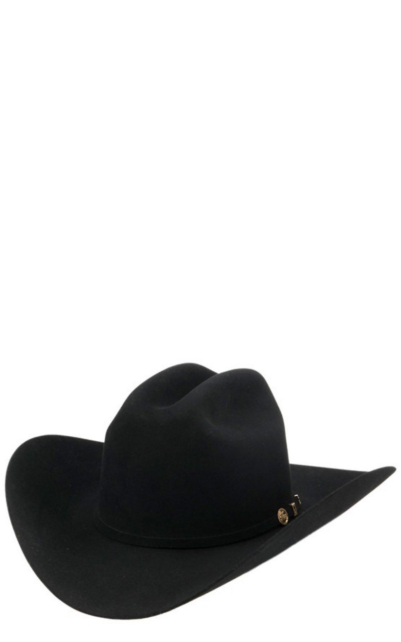 Stetson  Stetson 100X El Presidente Black Felt Cowboy Hat e6f76b0fa32