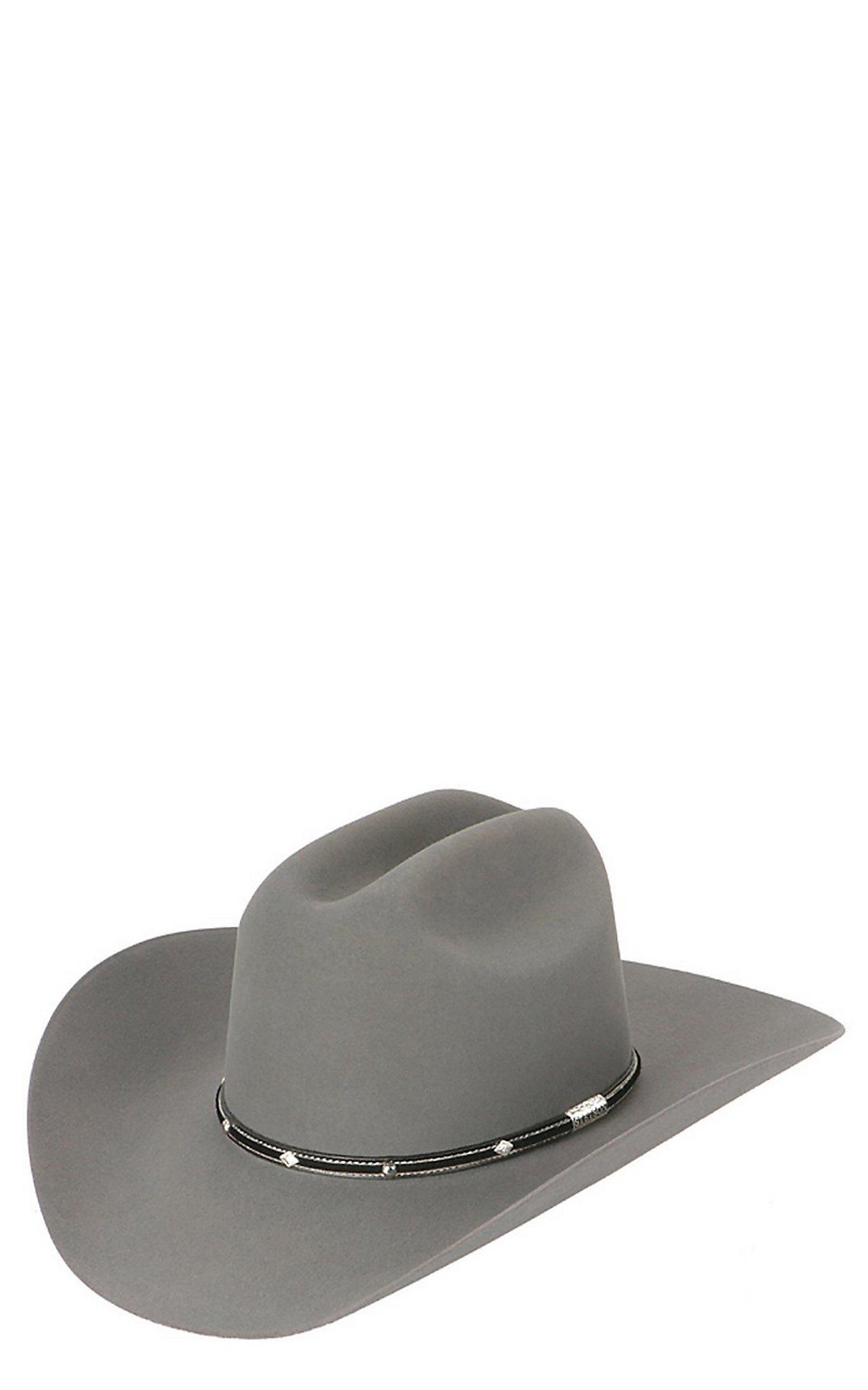 f97597ba5c2 Stetson 6X Angus Granite Grey Felt Cowboy Hat