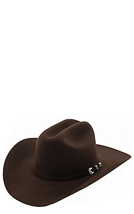 Stetson 6X Skyline Chocolate Brown Felt Cowboy Hat