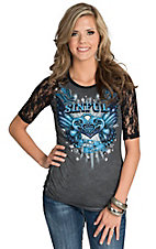 Sinful by Affliction Summer of Love Raglan Top