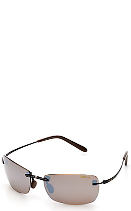 BEX Fynnland X Black and Brown Polarized Sunglasses