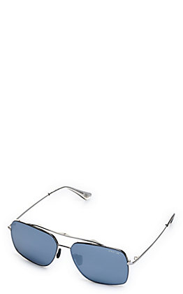 BEX Pilot Silver and Grey Polarized Sunglasses