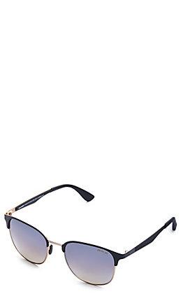 BEX Tanaya Black and Gold Polarized Sunglasses