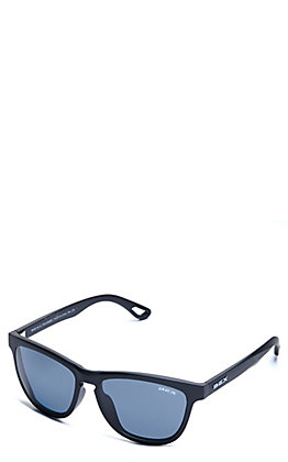 BEX Griz Matte Black and Grey Polarized Sunglasses