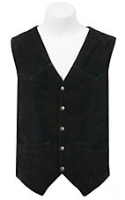 Scully Black Suede Western Cut Vest