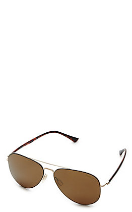 BEX Cole Gold and Brown Polarized Sunglasses