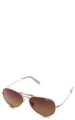 BEX Wesley XL Rose Gold and Brown Polarized Sunglasses