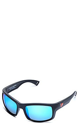 BEX Ghavert FX Matte Black and Sky Echo Polarized Sunglasses