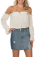 Berry N Cream Women's Light Wash Denim Skirt