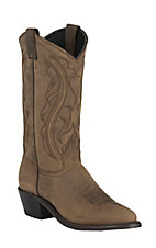 Sage Ladies Distressed Brown R-Toe Western Boots