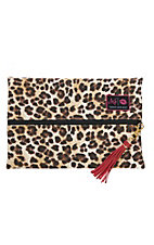 Makeup Junkie Savannah Leopard Medium Makeup Bag