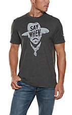 Men's Say When Vintage Charcoal T-Shirt