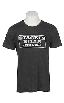 Stackin Bills Men's Charcoal 7 Days a Week S/S T-Shirt