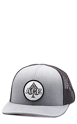 Stackin Bills Grey & Black Ace in Hole Patch Cap
