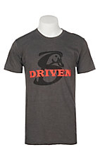 Stackin Bills Men's Charcoal with Red Logo Driven Graphic S/S T-Shirt