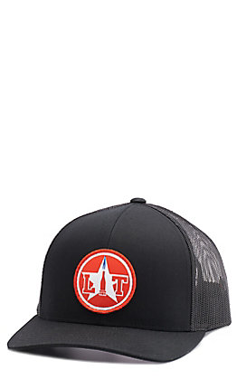 Stackin Bills Men's Black Lit Torch Red Circle Patch Cap