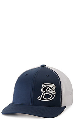 Stackin Bills Navy and White with Texas Flag Embroidered Logo Cap