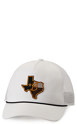 Stackin Bills Lonestar White with Texas Logo Patch and Rope Cap