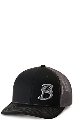 Stackin Bills Black and Grey with Embroidered Logo Cap