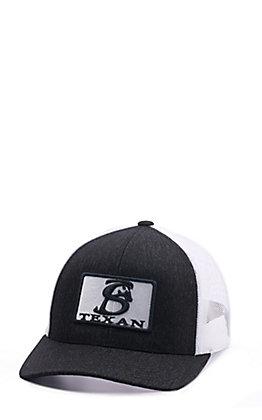 Stackin Bills Black Texan Patch Cap